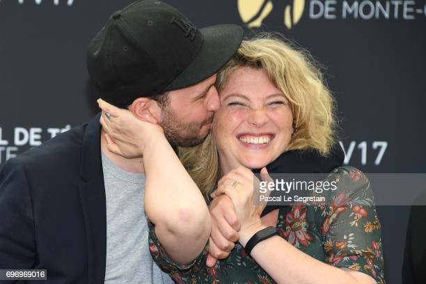 Cecile Bois and Ali Marhyar from 'Candice Renoir' TV Show poses for a Photocall during the 57th Monte Carlo TV Festival Day Two on June 17 2017 in...