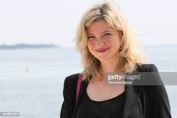 Cecile Bois attends photocall for 'Candice Renoir' at Hotel Majestic Jetty on April 7 2014 in Cannes France