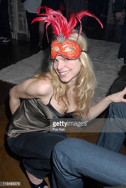 Cecile Breccia attends the Ellen Von Unwerth and Bridget Yorke Masked Birthday Party in a Private Flat Rue Francois 1er on February 01 2008 in Paris...