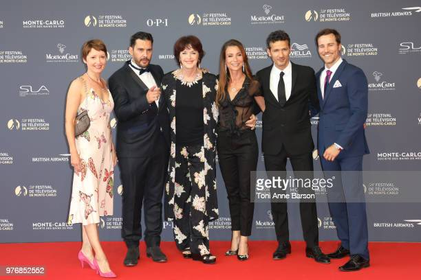 Cecile Caillaud Alexandre Thibault Anny Duperey Jennifer Lauret Kamel Belghazi and Karl E Landler attend the opening ceremony of the 58th Monte Carlo...