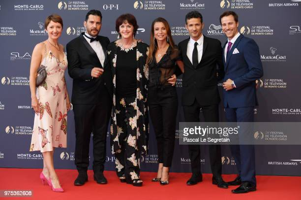 Cecile CaillaudAlexandre ThibaultAnny DupereyJennifer Lauret Kamel Belghazi and Karl E Landler attend the opening ceremony of the 58th Monte Carlo TV...