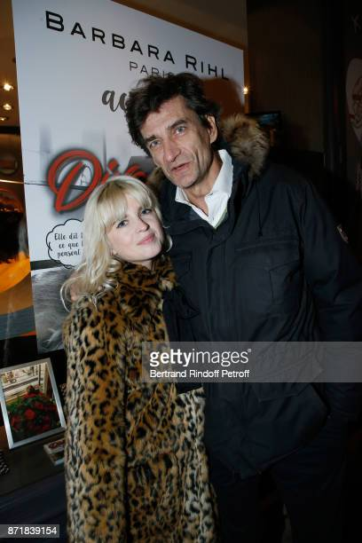 Cecile Cassel and Eric Altmayer attend Reem Kherici signs her book 'Diva' at the Barbara Rihl Boutique on November 8 2017 in Paris France