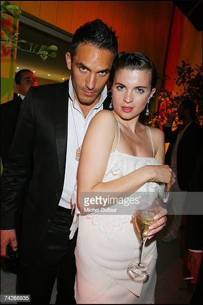 Cecile Cassel and guest attend a dinner sponsored by magazine Madame Figaro to celebrate the Sixtieth Anniversary of the IFF on May 23 2007 in Cannes...
