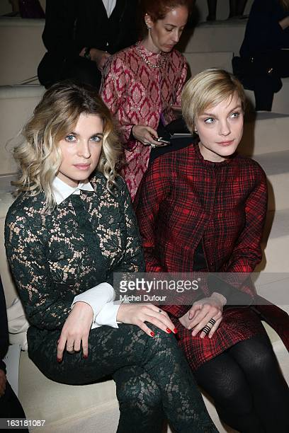 Cecile Cassel and Jessica Stam attend the Valentino Fall/Winter 2013 ReadytoWear show as part of Paris Fashion Week on March 5 2013 in Paris France