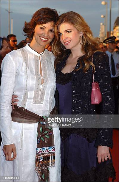 Cecile Cassel and Nadia Fares at Cabourg Romantic Film Festival in Paris France on June 13 2004