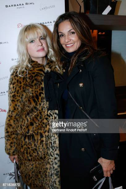 Cecile Cassel and Nadia Fares attend Reem Kherici signs her book 'Diva' at the Barbara Rihl Boutique on November 8 2017 in Paris France