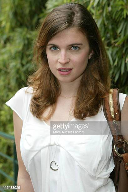 Cecile Cassel arrives in the 'Village' the VIP area of the French Open at Roland Garros arena in Paris France on June 8 2007