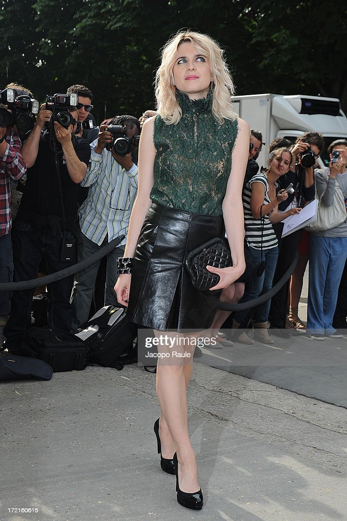 Cecile Cassel attends the Chanel show as part of Paris Fashion Week Haute-Couture Fall/Winter 2013-2014 at Grand Palais on July 2, 2013 in Paris, France.
