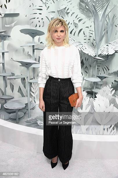 Cecile Cassel attends the Chanel show as part of Paris Fashion Week Haute Couture Spring/Summer 2015 on January 27 2015 in Paris France