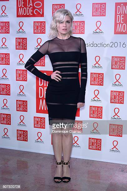 Cecile Cassel attends the Sidaction Gala Dinner 2016 as part of Paris Fashion Week on January 28 2016 in Paris France