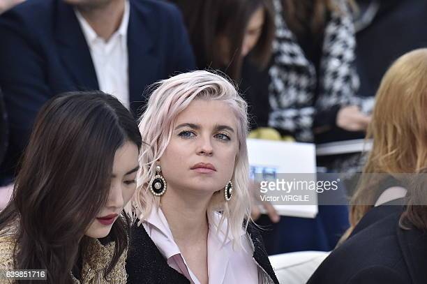 Cecile Cassel during the Chanel Spring Summer 2017 show as part of Paris Fashion Week on January 24 2017 in Paris France