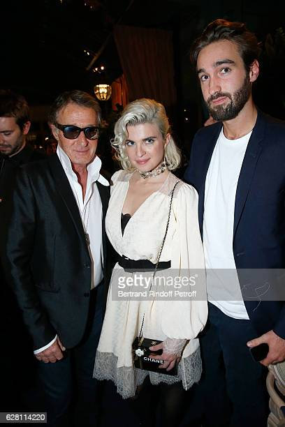 Cecile Cassel standing between Eric Pfrunder and his son Jasper attend the Chanel Collection des Metiers d'Art 2016/17 Paris Cosmopolite Show at...