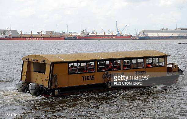 Cecile de Comramond A ferry carries passengers from Marina station to Apapa in Lagos on November 28 2012 Over a million Lagosians now uses ferry...