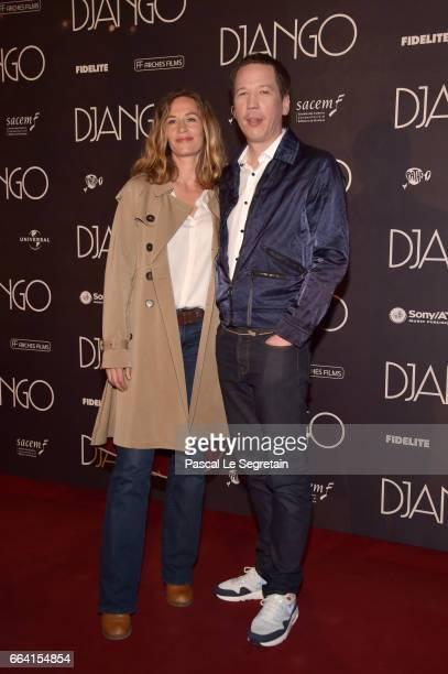 Cecile de France and Reda Kateb attend 'Django' Premiere at Le Grand Rex on April 3 2017 in Paris France
