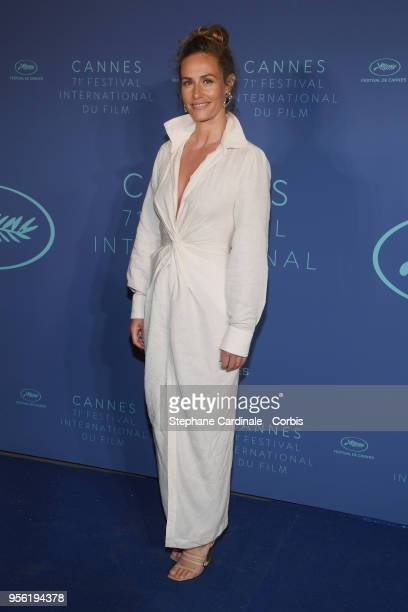 Cecile de France arrives at the Gala dinner during the 71st annual Cannes Film Festival at Palais des Festivals on May 8 2018 in Cannes France