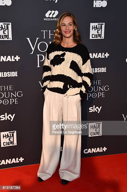 Cecile de France attends The Young Pope Paris Premiere at la cinematheque on October 17 2016 in Paris France