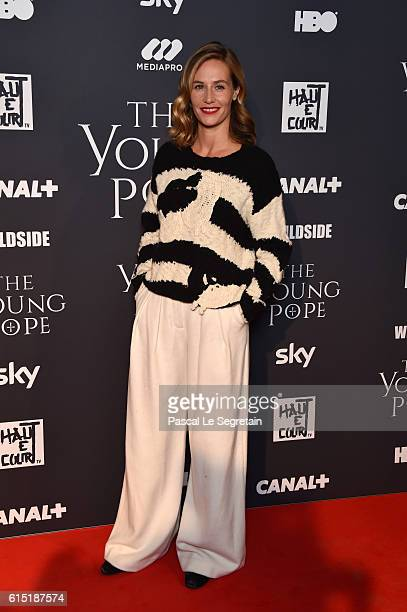 """Cecile de France attends """"The Young Pope"""" Paris Premiere at la cinematheque on October 17, 2016 in Paris, France."""