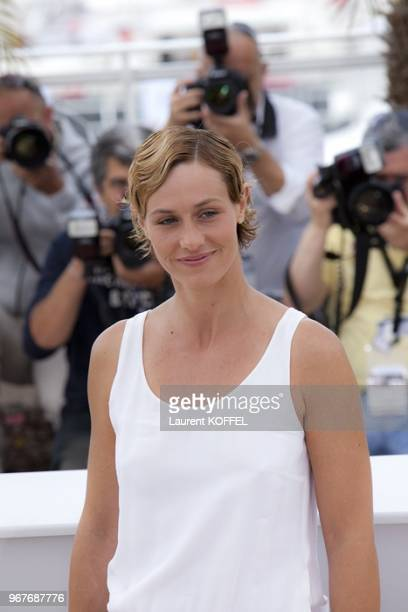 Cecile de France poses at the Le Gamin Au Velo Portrait Session during the 64th Annual Cannes Film Festival on May 14 2011 in Cannes France