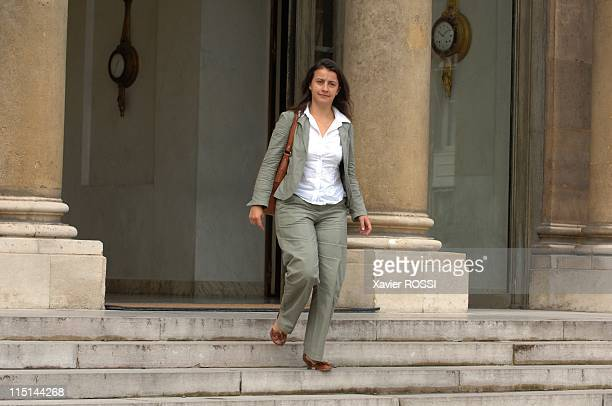 Cecile Duflot received at the Elysee in the preparation of the European Council in Paris France on June 18 2007