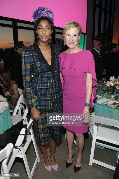 Cecile Richards and Jessica Williams attend the Planned Parenthood's 2018 Spring Into Action Gala at Spring Studios on May 1 2018 in New York City