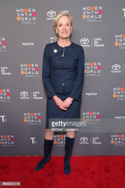 Cecile Richards attends the Eighth Annual Women In The World Summit at Lincoln Center for the Performing Arts on April 5 2017 in New York City