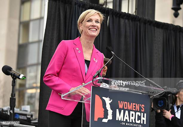 Cecile Richards attends the Women's March on Washington on January 21 2017 in Washington DC