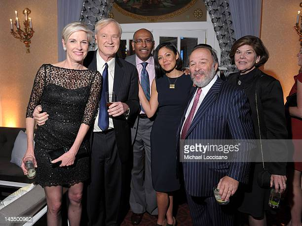 Cecile Richards Chris Matthews Michael Steele Alex Wagner Joe Klein and Ann Compton attend the PEOPLE/TIME Party on the eve of the White House...