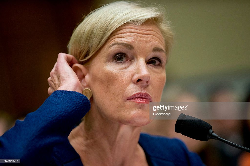 Cecile Richards, president of Planned Parenthood Federation of America Inc., adjusts her hair during a House Oversight and Government Reform Committee hearing in Washington, D.C., U.S., on Tuesday, Sept. 29, 2015. Conservative House Republicans have demanded a government shutdown if lawmakers don't defund Planned Parenthood, the women's reproductive health-care provider whose services include abortion. Photographer: Andrew Harrer/Bloomberg via Getty Images