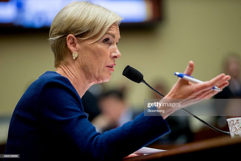 Cecile Richards, president of Planned Parenthood Federation of America Inc., speaks during a House Oversight and Government Reform Committee hearing in Washington, D.C., U.S., on Tuesday, Sept. 29, 2015. Conservative House Republicans have demanded a government shutdown if lawmakers don't defund Planned Parenthood, the women's reproductive health-care provider whose services include abortion. Photographer: Andrew Harrer/Bloomberg via Getty Images