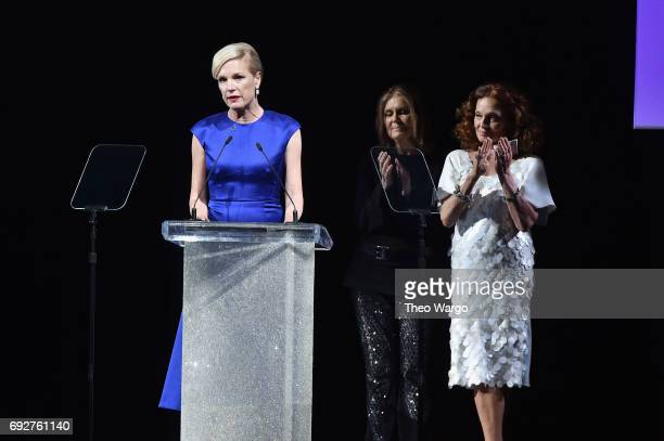 Cecile Richards speaks onstage during the 2017 CFDA Fashion Awards at Hammerstein Ballroom on June 5 2017 in New York City