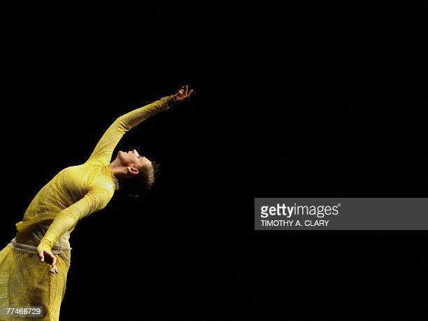 Cecile Robin Prevallee with the Ballet Du Grand Theatre De Geneve performs ParaDice during a dress rehearsal before opening night 23 October 2007 at...