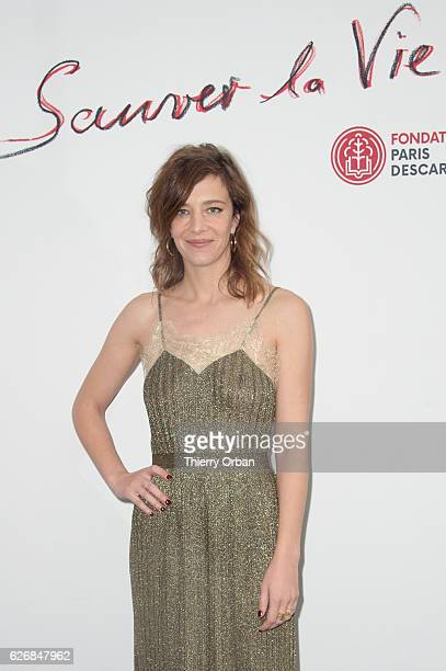 Cecile Salette attends the diner 'sauver la vie' Eric Pfrunder Hosts 'Sauver La Vie' Diner for Paris Descartes Fondation at Pavillon Ledoyen on...