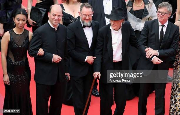 Cecile ZhangxxxxxEdward Lachman and Todd Haynes attend the screening of The Wild Pear Tree during the 71st annual Cannes Film Festival at Palais des...