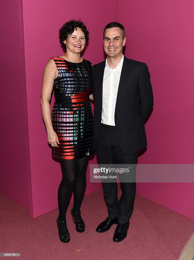 Cecilia Alemani and Massimiliano Gioni attend the 2015 Guggenheim International Gala Dinner made possible by Dior at Solomon R. Guggenheim Museum on November 5, 2015 in New York City.