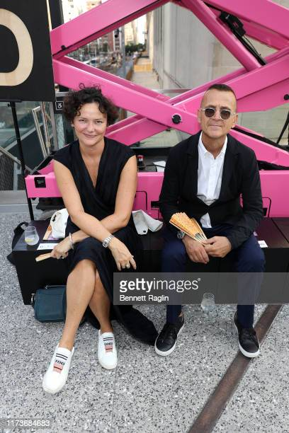 Cecilia Alemani and Steven Kolb attend the front row for Coach 1941 during New York Fashion Week on September 10 2019 in New York City