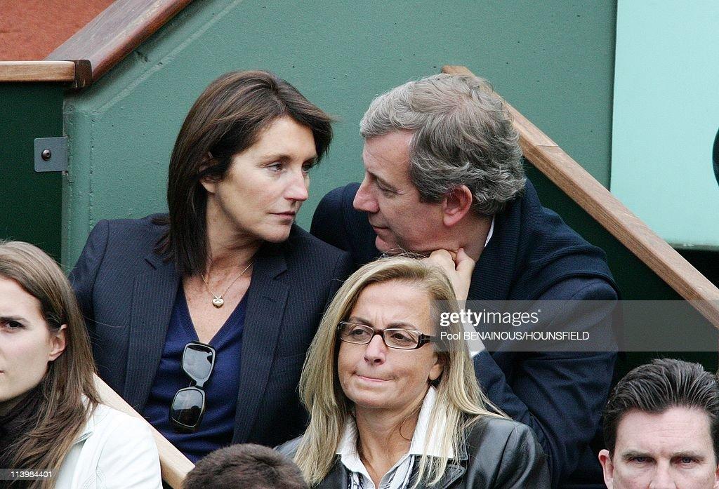 Cecilia and Richard Attias at 2008 Roland Garros Tournament In Paris, France On June 07, 2008- : News Photo