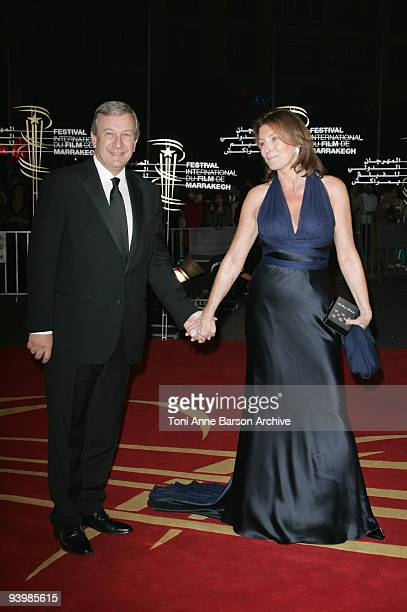 Cecilia Attias and Richard Attias attend the John Rabe premiere at the 9th Marrakesh Film Festival at the Palais des Congres on December 4, 2009 in...