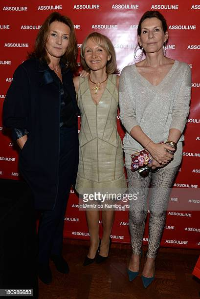 Cecilia Attias author Ketty PucciSisti Maisonrouge and Martine Assouline attend ASSOULINE Martine and Prosper Assouline host a book signing for Ketty...