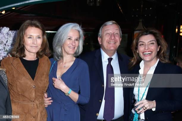 Cecilia Attias Tatiana de Rosnay Richard Attias and Daphne Roulier attend 'La Closerie Des Lilas Literary Awards 2014 7th Edition' at La Closerie Des...