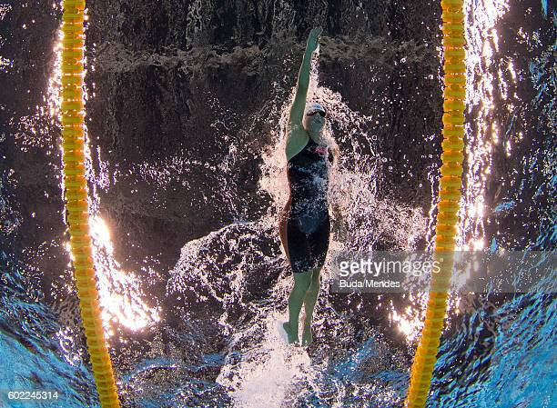 Cecilia Camellini of Italy competes in the Women's 400m Freestyle S11 Final on day 3 of the Rio 2016 Paralympic Games at the Olympic Aquatics Stadium...