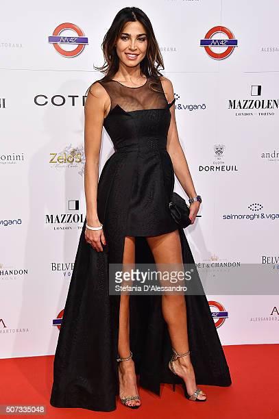 Cecilia Capriotti attends Alessandro Martorana Birthday Party held at La Permanente on January 28 2016 in Milan Italy