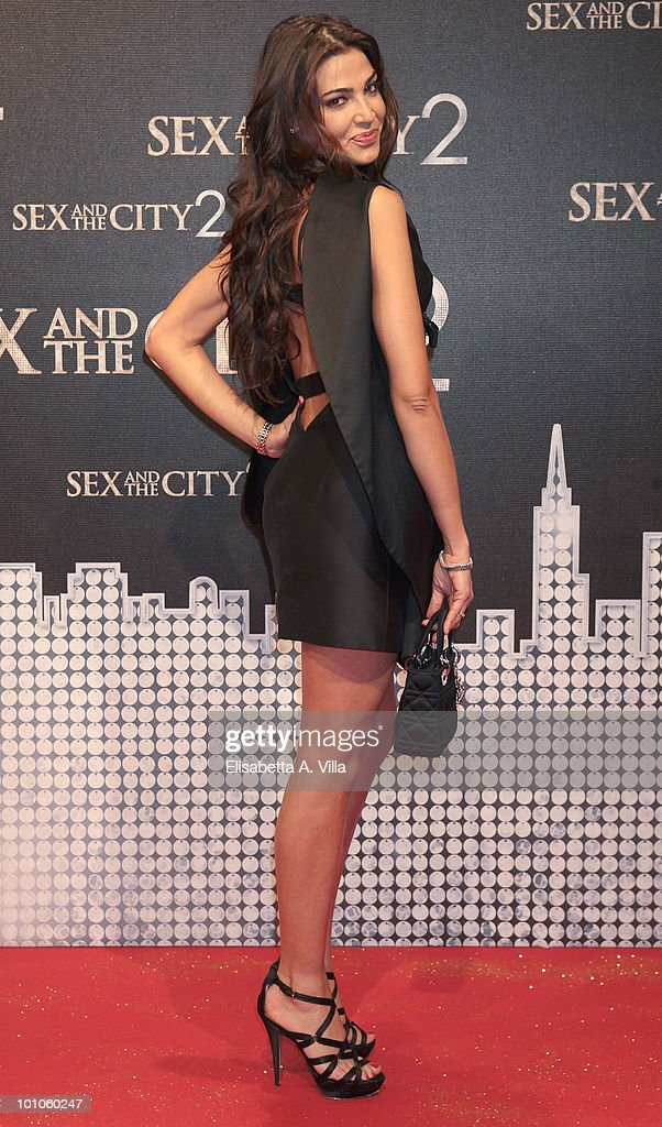 Cecilia Capriotti attends 'Sex & The City 2' premiere at Warner Moderno Cinema on May 27, 2010 in Rome, Italy.
