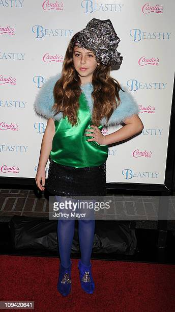 Cecilia Cassini arrives at the 'Beastly' Los Angeles Premiere at Pacific Theaters at The Grove on February 24 2011 in Los Angeles California