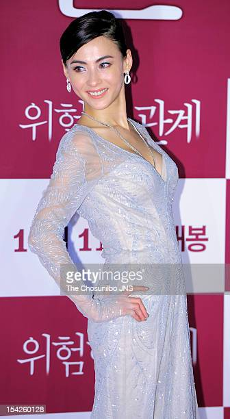 Cecilia Cheung attends the 'Dangerous Liaisons' VIP Press Screening at Yeouido CGV on October 10 2012 in Seoul South Korea