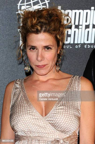 """Cecilia Dazzi and guest attend the """"Champions For Children"""" And Clarence Seedorf Hold First Annual Gala held at Castello Sforzesco on April 8, 2010..."""