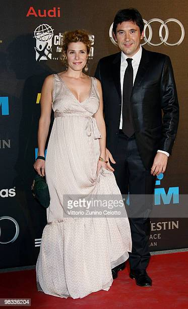 Cecilia Dazzi and his husband attend ''Champions For Children'' First Annual Gala held at Castello Sforzesco on April 8 2010 in Milan Italy