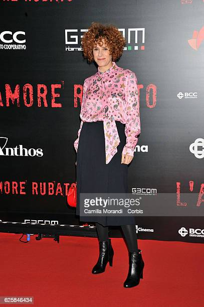 Cecilia Dazzi walks a red carpet for 'L'Amore Rubato' on November 25 2016 in Rome Italy
