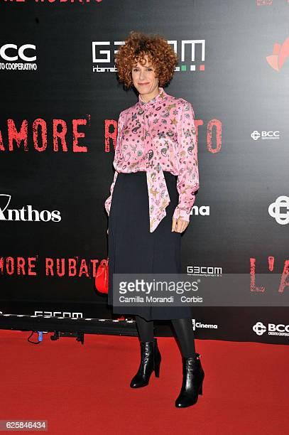 Cecilia Dazzi walks a red carpet for 'L'Amore Rubato' on November 25, 2016 in Rome, Italy.