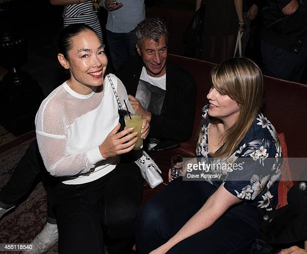 Cecilia Dean artist Maurizio Cattelan and Rodarte designer Kate Mulleavy attend the first Tumblr attends the Fashion Honor presented to Rodarte at...