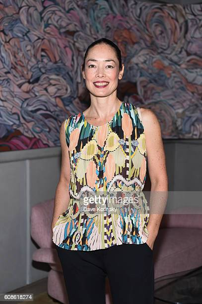 "Cecilia Dean attends the Daniel Arsham ""Colorblind Artist: In Full Color"" at Spring Place on September 19, 2016 in New York City."